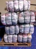 BALLES 45 KG DE DRAPS BLANC vendus lavé et pliés