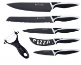 Set de couteau 6 pièces Revêtement céramique KITCHEN Swiss inclus couteau PIZZA