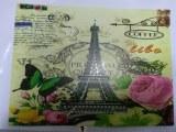 Set de table PARIS, 8 dessins differents