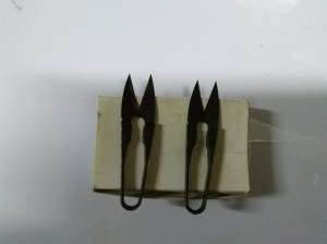 Ciseaux de couture a broder portatif