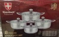 Set de 4 casseroles (8 pièces) en Inox - Faitout - Marmite - Tous feux + induction