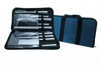 SACOCHE Couteaux 10 pcs, inox avec sacoche de transport