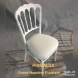 Chaise Napoléon III Plastique monobloc Blanche et Doré