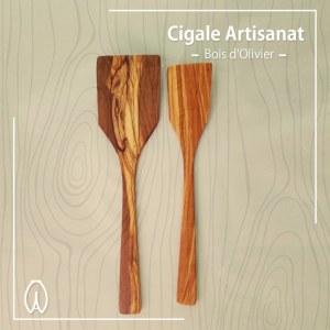 Ustensile de cuisine en bois d'olivier,Lot complet