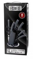 Set de couteau sur support 8 pièces Revêtement sur présentoir acrylic