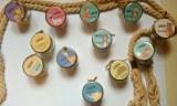Mini pot verre personnalisé pour dragées baptême anniversaire
