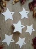 LOT 500 Étiquettes cadeaux étoiles ou coeur blancs perforées mariage baptême anniversai...