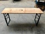 Tables brasseur bois pliable reglables hauteur neuves