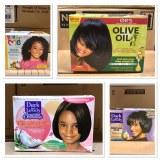 Kit de défrisage ORS Olive oil, Dark & Lovely, Just 4 Me.... Produits Cosmétiques Afro...