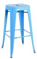 Grossiste importateur tabouret metal bleu ciel