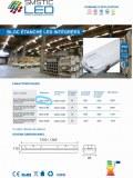 BLOC ETANCHE BLANC FROID OPAQUE 54W AVEC BATTERIE DE SECOURS