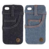 Jean couvercle étui pour iPhone 4 / 4S (poche latérale)