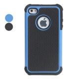 Etui de Protection Antichocs et Etui en Plastique pour iPhone 4/4S - Noir, bleu