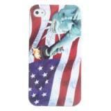 De protection du pavillon nous et la statue de la liberté pour les cas iphone 4 et 4s