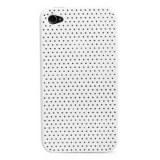 Ultra mince en caoutchouc mat maillage couvercle étui rigide pour iPhone 4 et 4s (blanc)
