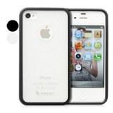 Etui en TPU et polycarbonate et pare-chocs pour iPhone 4 et 4s