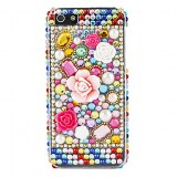 Colorful Flower et arr��t du diamant en surface dure pour l'iPhone 5