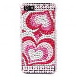 Modèle Big Heart avec étui diamant de surface dure pour l'iPhone 5
