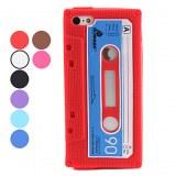 Etui Souple Style Cassette pour iPhone 5 - Rose et bleu ciel