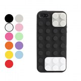 IPC5-34/Etui Rigide Style Lego pour iPhone 5- Noir, blanc