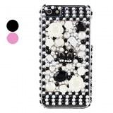 Couronne de fleurs et de cas Perle Surface rigide pour iPhone 5