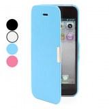 Etui Complet à Boucle Magnétique pour iPhone 5 - Noir, blanc