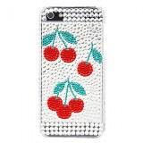 Motif en fleur avec étui diamant de surface dure pour l'iPhone 5