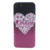 Relief Style Case Modèle en forme de coeur dur pour l'iPhone 5