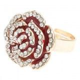 Or Métal Roses entièrement ornée de pierres précieuses Bague réglable