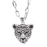 Collier Leopard alliage chef