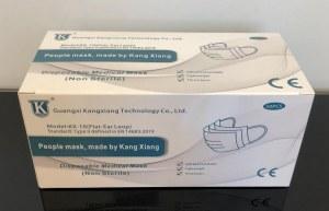 Masques chirurgicaux haute filtration Type II EN14683/ Certifiés CE