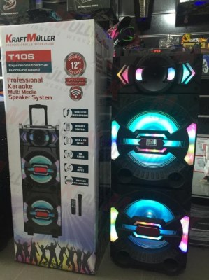 KRAFTMULLER.Enceinte Bluetooth Portable karaoké 10W,Micro, FM,USB/CART