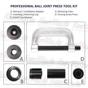 KRAFTMULLER,kit d'outils de retrait de presse à rotule et de join en U