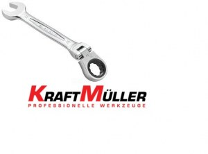 KraftMuller Kit à cliquet avec 12 pièces articulées