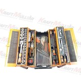 KRAFTMULLER,Caisse à outils métalique avec outils intégrés 85 pièces