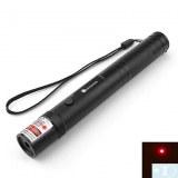 Une lampe de poche en forme de pointeur laser rouge avec des piles (5mW, 605nm, noir)