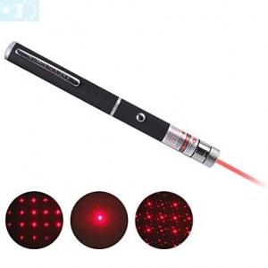 Multi-point étoile rouge stylo pointeur laser (y compris 2 piles AAA)