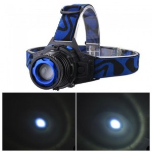 Lot de LampeRechargeable 1200lm LED Lampe Phare Réglable Zoom Faisceau Lampe Avant avec...