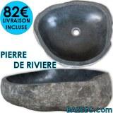Lavabo en pierre de rivière Ovale 40-45 cm LIVRAISON GRATUITE