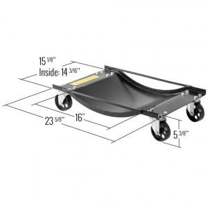 2 lève-roue KRAFTMULLER - Pour voiture/camionnette - Cric de garage - 450 kg par lève...