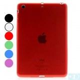 Etui Souple en TPU Transparent pour iPad Mini- Rouge, bleu ciel