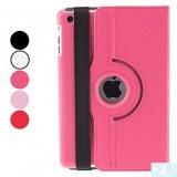 Etui en Cuir PU, Rotation 360 Degrés pour iPad Mini - Rouge, rose