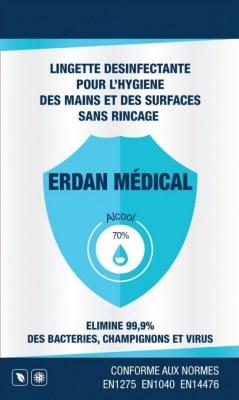 Lingettes individuelles virucides Normes EN14476 / EN