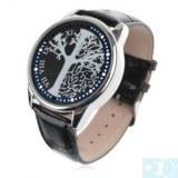New Fashion Uni Light LED Wrist Watch Silver Tree