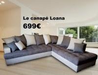 DIRECT GROSSISTE CANAPE LOANA AVEC SES COUSSINS