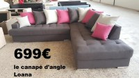 DIRECT GROSSISTE CANAPE ANGLE LOANA+ SES COUSSINS