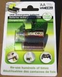 Lot de 2 Piles AA rechargeables par port USB