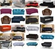 Lot de 28 canapés neufs sous emballage : canapé 2 et 3 places , fauteuils
