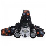 Lot de torche lampe frontale 3led rechargeable