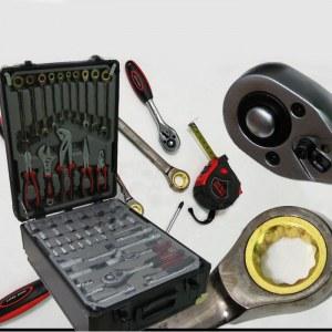 Malette à outils 186 pieces, avec cliquet doré